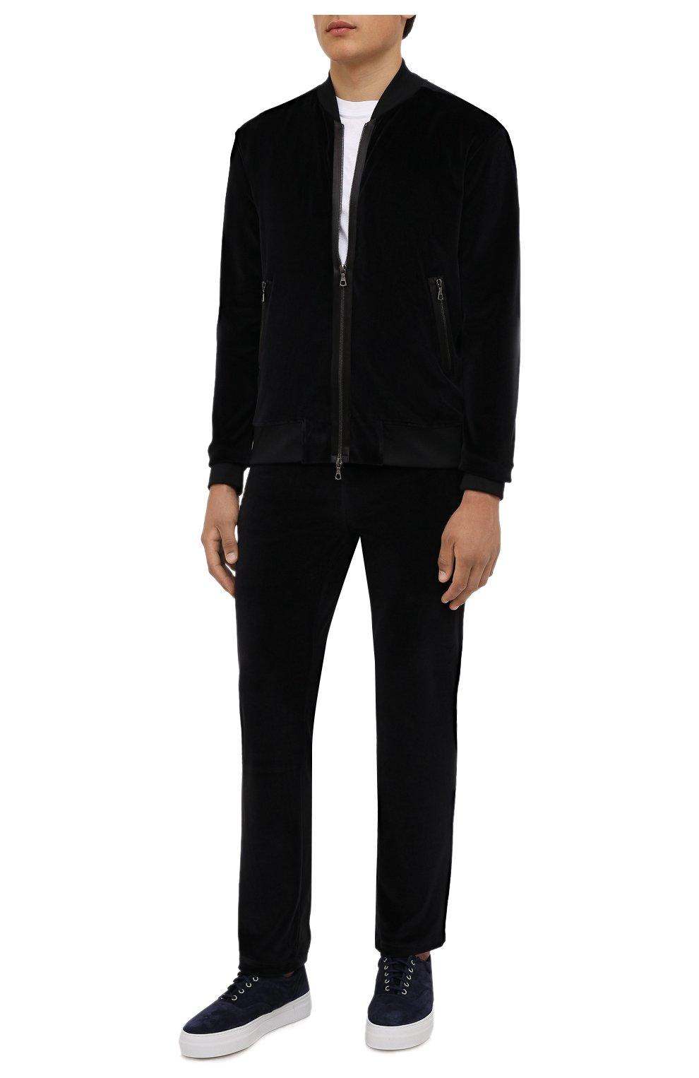 Мужской хлопковый бомбер LIMITATO черного цвета, арт. MARKET/ZIPPED B0MBER H00DIE | Фото 2 (Кросс-КТ: Куртка; Рукава: Длинные; Принт: Без принта; Материал внешний: Хлопок; Стили: Спорт-шик; Длина (верхняя одежда): Короткие; Материал подклада: Хлопок)