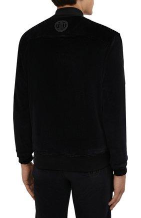 Мужской хлопковый бомбер LIMITATO черного цвета, арт. MARKET/ZIPPED B0MBER H00DIE | Фото 4 (Кросс-КТ: Куртка; Рукава: Длинные; Принт: Без принта; Материал внешний: Хлопок; Стили: Спорт-шик; Длина (верхняя одежда): Короткие; Материал подклада: Хлопок)