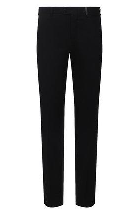Мужские брюки из шерсти и кашемира BRIONI черного цвета, арт. RPN20M/08AB3/GSTAAD   Фото 1