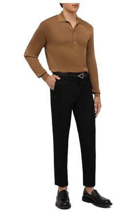 Мужские брюки из шерсти и кашемира BRIONI черного цвета, арт. RPN20M/08AB3/GSTAAD   Фото 2