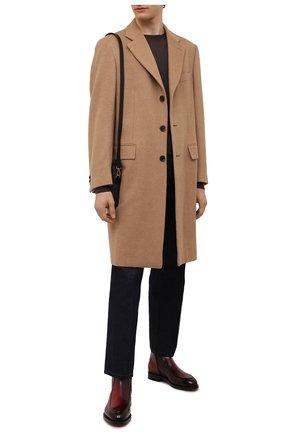 Мужские кожаные сапоги SANTONI бордового цвета, арт. MCCG17671MD3HFULQ67 | Фото 2 (Материал внутренний: Натуральная кожа; Подошва: Плоская; Мужское Кросс-КТ: Сапоги-обувь)