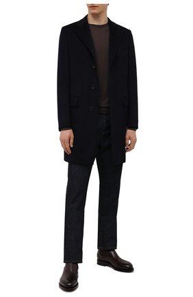 Мужские кожаные челси SANTONI темно-коричневого цвета, арт. MCCG17838MH4H0BRQ67 | Фото 2