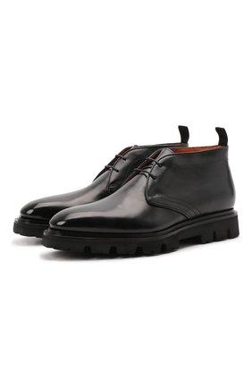 Мужские кожаные ботинки SANTONI черного цвета, арт. MCLG17804SM3EVRTN01 | Фото 1