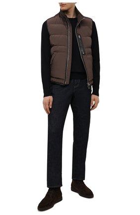 Мужские замшевые ботинки SANTONI темно-коричневого цвета, арт. MGDG17891DATASVUT50 | Фото 2
