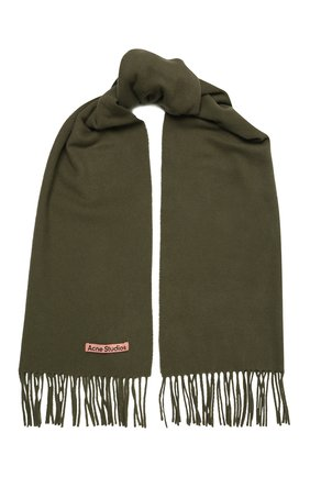 Мужской шерстяной шарф ACNE STUDIOS хаки цвета, арт. CA0086/M | Фото 1
