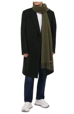 Мужской шерстяной шарф ACNE STUDIOS хаки цвета, арт. CA0086/M | Фото 2