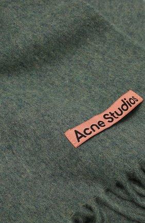 Мужской шерстяной шарф ACNE STUDIOS бирюзового цвета, арт. CA0086/M | Фото 2