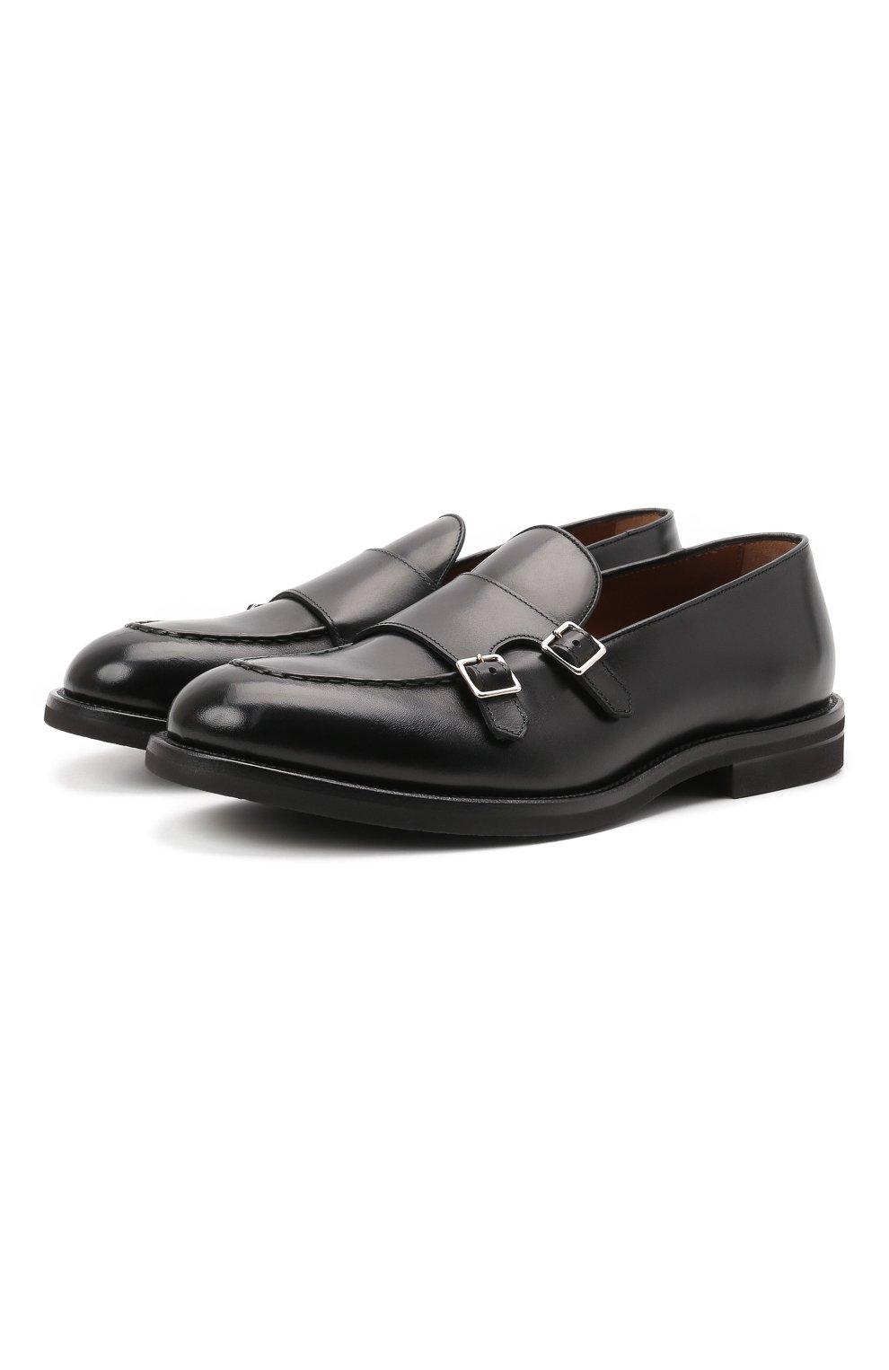 Мужские кожаные лоферы H`D`S`N BARACCO черного цвета, арт. 80404.3* | Фото 1 (Материал внутренний: Натуральная кожа; Стили: Классический)