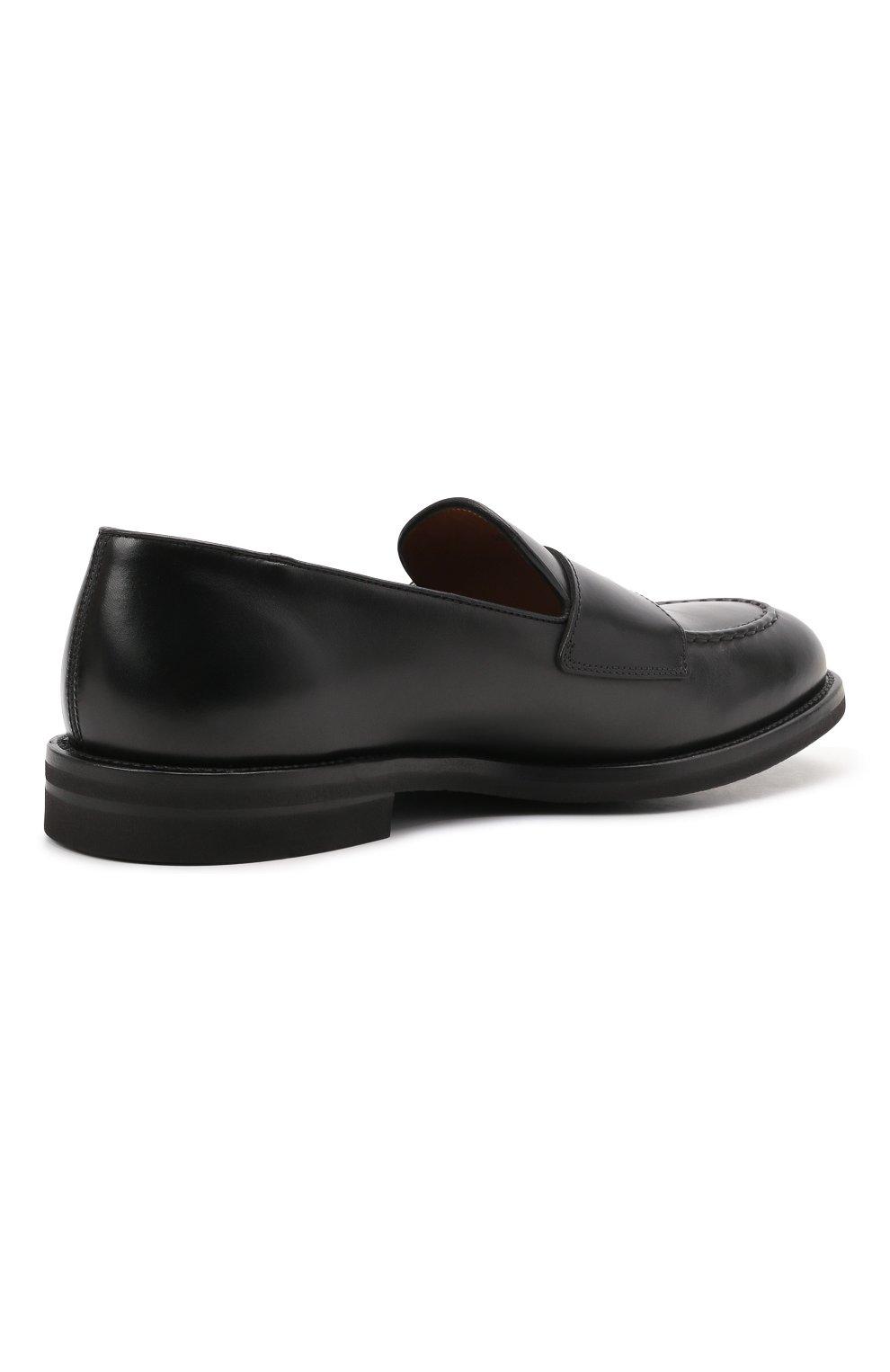 Мужские кожаные лоферы H`D`S`N BARACCO черного цвета, арт. 80404.3* | Фото 4 (Материал внутренний: Натуральная кожа; Стили: Классический)