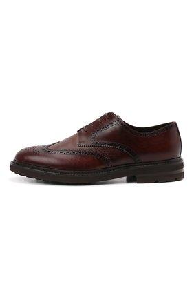 Мужские кожаные дерби H`D`S`N BARACCO коричневого цвета, арт. 81216.B.2*   Фото 3 (Мужское Кросс-КТ: Броги-обувь; Материал внутренний: Натуральная кожа; Стили: Классический)