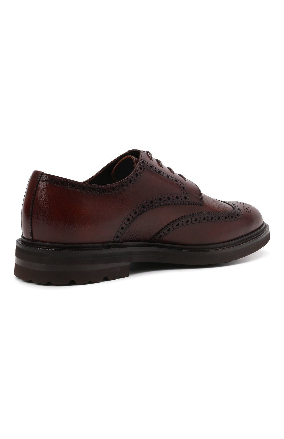 Мужские кожаные дерби H`D`S`N BARACCO коричневого цвета, арт. 81216.B.2*   Фото 4 (Мужское Кросс-КТ: Броги-обувь; Материал внутренний: Натуральная кожа; Стили: Классический)