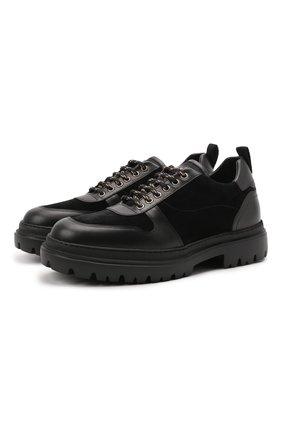 Мужские комбинированные ботинки H`D`S`N BARACCO черного цвета, арт. 81240.VVN.0* | Фото 1
