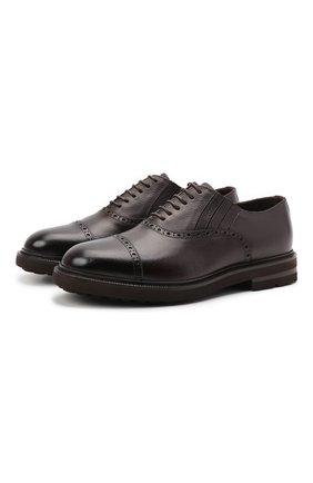 Мужские кожаные оксфорды H`D`S`N BARACCO темно-коричневого цвета, арт. 81318.M.1* | Фото 1