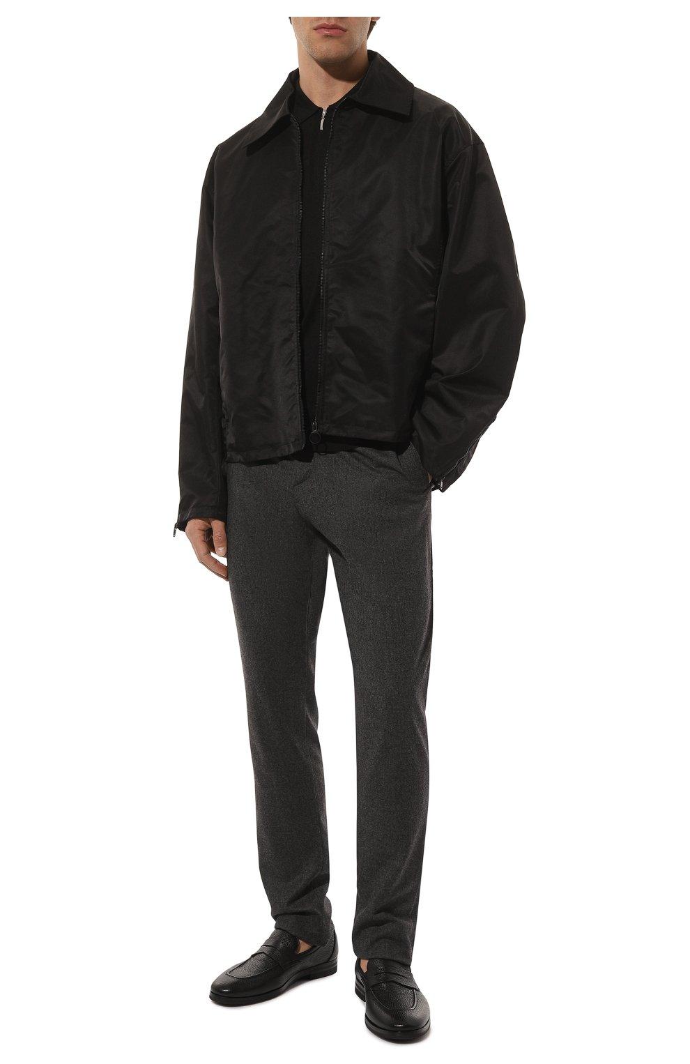Мужские кожаные пенни-лоферы H`D`S`N BARACCO черного цвета, арт. 81410.C.1* | Фото 2 (Материал внутренний: Натуральная кожа; Стили: Классический)