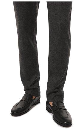 Мужские кожаные пенни-лоферы H`D`S`N BARACCO черного цвета, арт. 81410.C.1* | Фото 3 (Материал внутренний: Натуральная кожа; Стили: Классический)