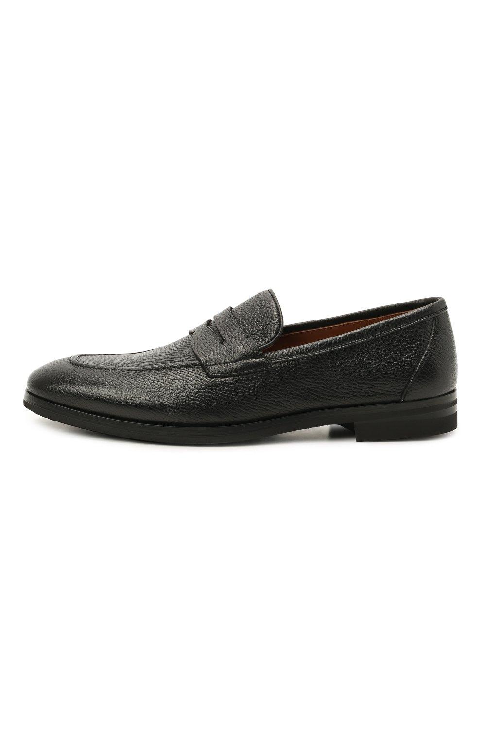 Мужские кожаные пенни-лоферы H`D`S`N BARACCO черного цвета, арт. 81410.C.1* | Фото 4 (Материал внутренний: Натуральная кожа; Стили: Классический)
