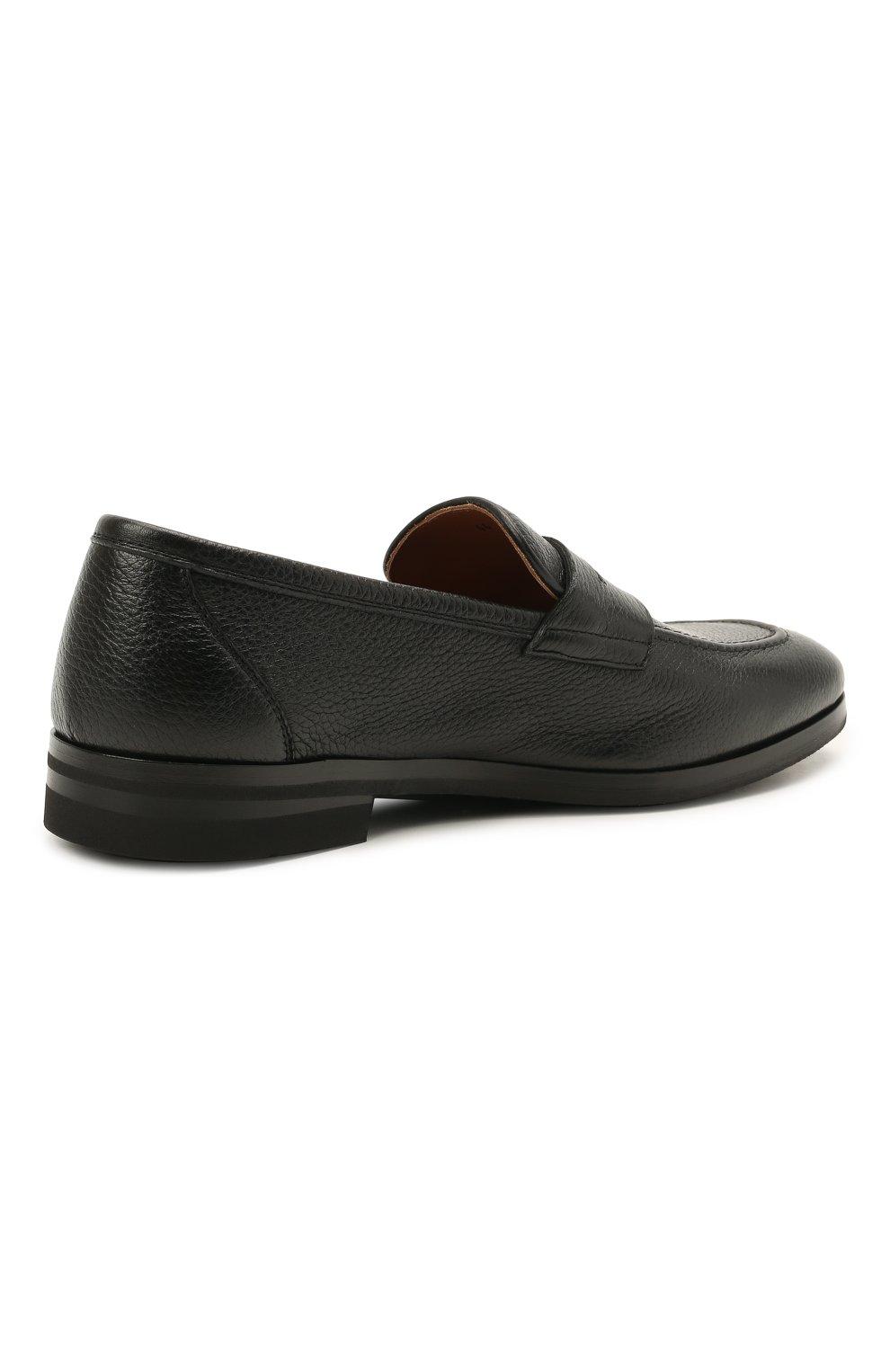 Мужские кожаные пенни-лоферы H`D`S`N BARACCO черного цвета, арт. 81410.C.1* | Фото 5 (Материал внутренний: Натуральная кожа; Стили: Классический)