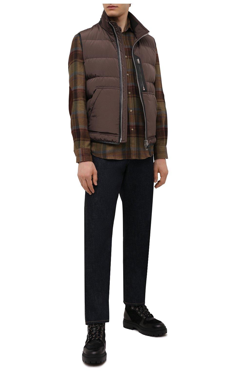 Мужские комбинированные ботинки H`D`S`N BARACCO черного цвета, арт. 81530.VMN.0* | Фото 2 (Материал утеплителя: Натуральный мех; Мужское Кросс-КТ: Хайкеры-обувь, Ботинки-обувь, зимние ботинки; Подошва: Массивная)