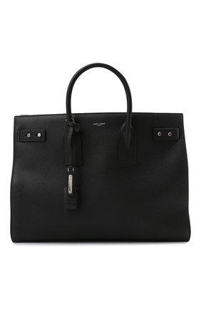 Мужская кожаная сумка-тоут sac de jour SAINT LAURENT черного цвета, арт. 631526/DTI0E | Фото 1