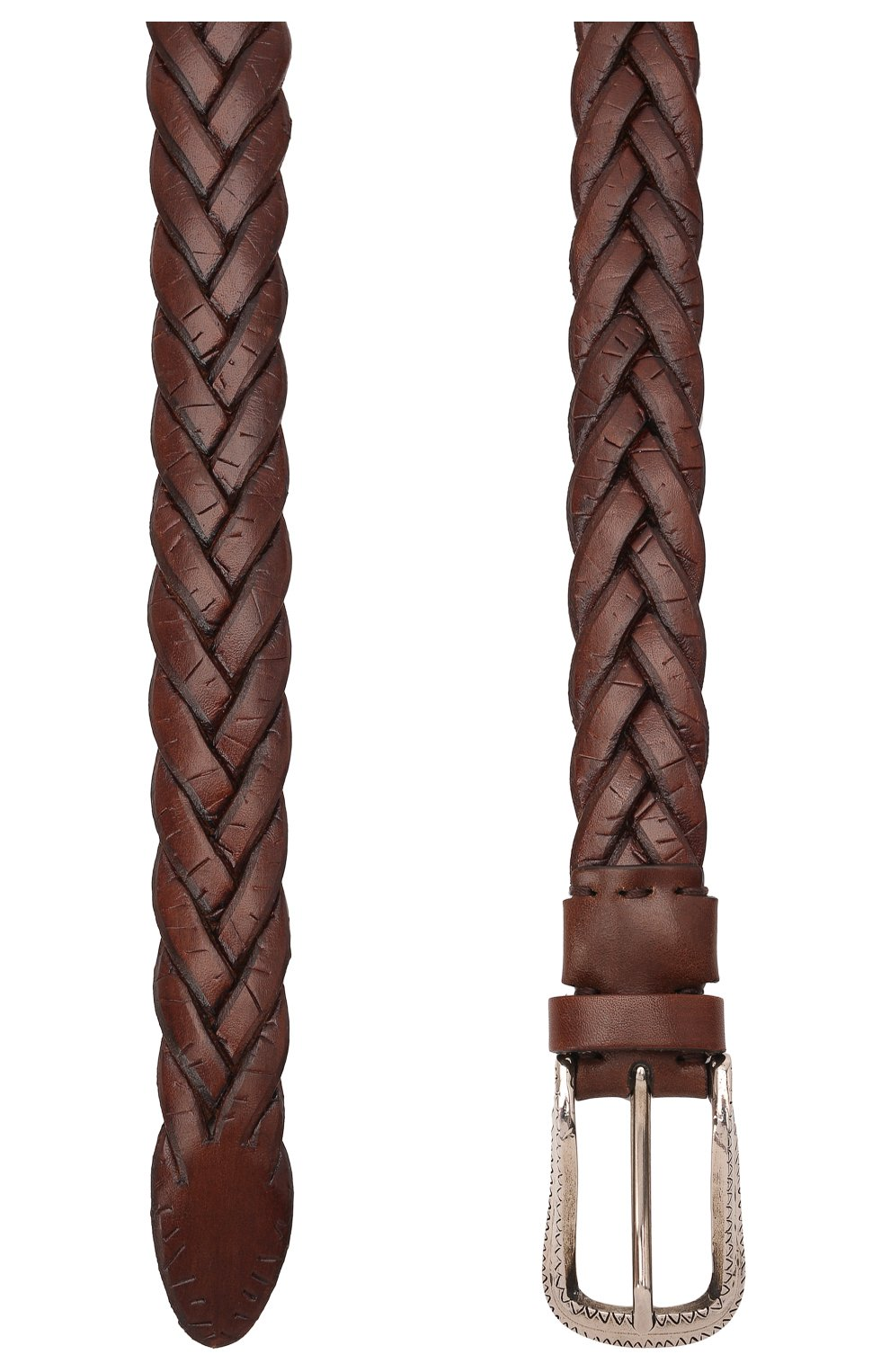 Мужской кожаный ремень BRUNELLO CUCINELLI коричневого цвета, арт. MAUCJ262 | Фото 3 (Случай: Повседневный)