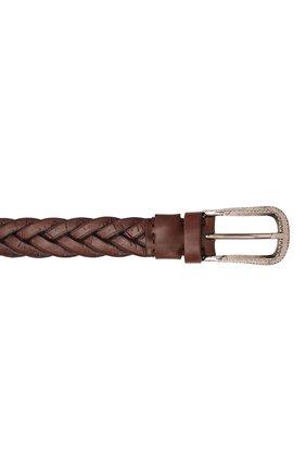 Мужской кожаный ремень BRUNELLO CUCINELLI коричневого цвета, арт. MAUCJ262 | Фото 4 (Случай: Повседневный)