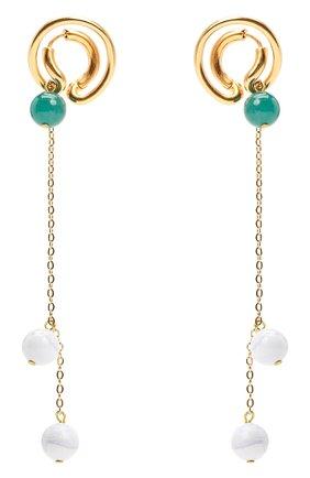 Женские серьги CRYSTALLINE JEWELLERY золотого цвета, арт. 373D | Фото 1