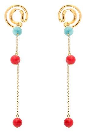 Женские серьги CRYSTALLINE JEWELLERY золотого цвета, арт. 373С | Фото 1