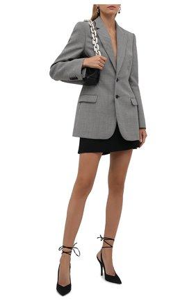 Женские текстильные туфли venus THE ATTICO черного цвета, арт. 213WS032/V015 | Фото 2
