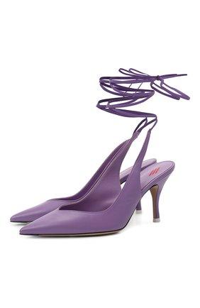 Женские кожаные туфли venus THE ATTICO сиреневого цвета, арт. 213WS107/L001 | Фото 1