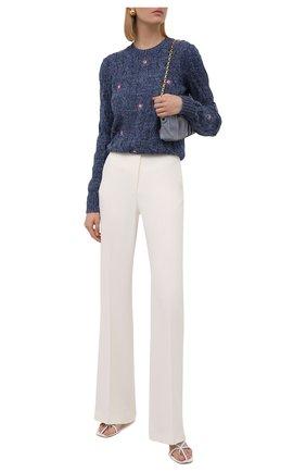 Женский хлопковый свитер POLO RALPH LAUREN синего цвета, арт. 211845944 | Фото 2