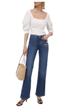 Женские джинсы POLO RALPH LAUREN голубого цвета, арт. 211843857 | Фото 2
