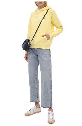 Женский хлопковое худи POLO RALPH LAUREN  цвета, арт. 211794394 | Фото 2 (Материал внешний: Хлопок; Рукава: Длинные; Длина (для топов): Стандартные; Стили: Спорт-шик; Женское Кросс-КТ: Худи-одежда, Худи-спорт)