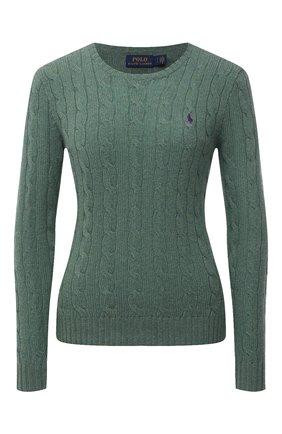 Женский шерстяной пуловер POLO RALPH LAUREN зеленого цвета, арт. 211525764 | Фото 1