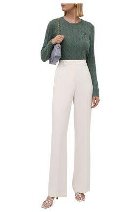 Женский шерстяной пуловер POLO RALPH LAUREN зеленого цвета, арт. 211525764 | Фото 2