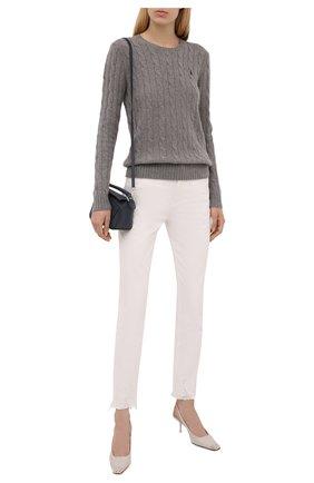 Женский шерстяной пуловер POLO RALPH LAUREN серого цвета, арт. 211525764 | Фото 2