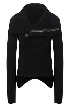 Женская кашемировая куртка RICK OWENS черного цвета, арт. RP02A7743/DD   Фото 1