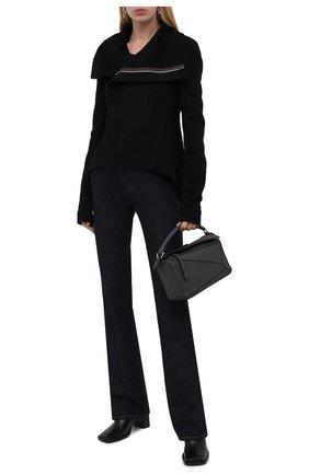 Женская кашемировая куртка RICK OWENS черного цвета, арт. RP02A7743/DD   Фото 2