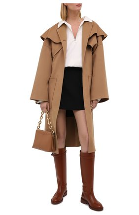 Женские кожаные сапоги POLO RALPH LAUREN коричневого цвета, арт. 818811250 | Фото 2