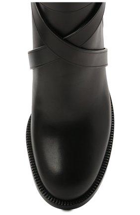 Женские кожаные ботильоны new pryle 70 BURBERRY черного цвета, арт. 8042369   Фото 5 (Материал внутренний: Натуральная кожа; Каблук высота: Средний; Каблук тип: Устойчивый; Подошва: Плоская)