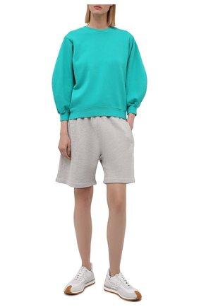 Женские хлопковые шорты AGOLDE серого цвета, арт. A9014-1336 | Фото 2