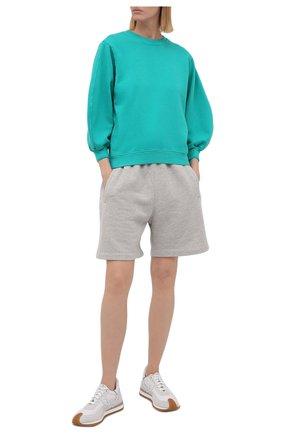Женский хлопковый свитшот AGOLDE бирюзового цвета, арт. A7053 | Фото 2
