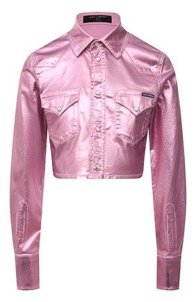 Женская хлопковая куртка DOLCE & GABBANA розового цвета, арт. F5094D/G900T   Фото 1
