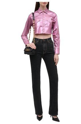 Женская хлопковая куртка DOLCE & GABBANA розового цвета, арт. F5094D/G900T   Фото 2