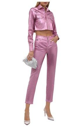 Женские джинсы DOLCE & GABBANA розового цвета, арт. FTAIAD/G900T   Фото 2