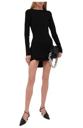 Женские кожаные туфли seville KHAITE черного цвета, арт. F3009-723/SEVILLE   Фото 2