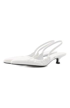 Женские кожаные туфли athens KHAITE белого цвета, арт. F3015-741/ATHENS   Фото 1