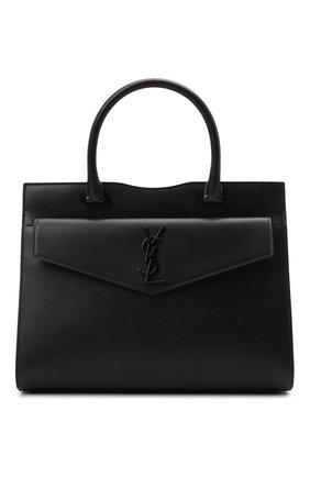 Женская сумка uptown medium SAINT LAURENT черного цвета, арт. 634747/1KA0U | Фото 1 (Материал: Натуральная кожа; Размер: medium; Сумки-технические: Сумки top-handle)