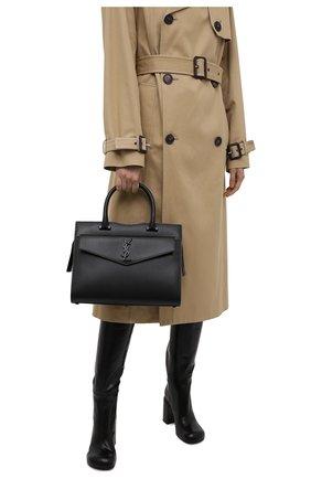 Женская сумка uptown medium SAINT LAURENT черного цвета, арт. 634747/1KA0U | Фото 2 (Материал: Натуральная кожа; Размер: medium; Сумки-технические: Сумки top-handle)