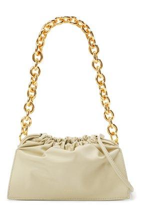 Женская сумка bom YUZEFI светло-зеленого цвета, арт. YUZIC0-HB-B0-13 | Фото 6 (Сумки-технические: Сумки top-handle; Материал: Натуральная кожа; Ремень/цепочка: На ремешке; Размер: small)