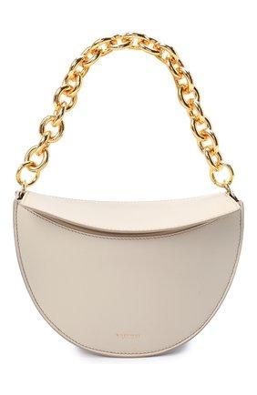 Женская сумка doris YUZEFI кремвого цвета, арт. YUZIC0-HB-D0-01 | Фото 1 (Материал: Натуральная кожа; Размер: mini; Сумки-технические: Сумки top-handle)